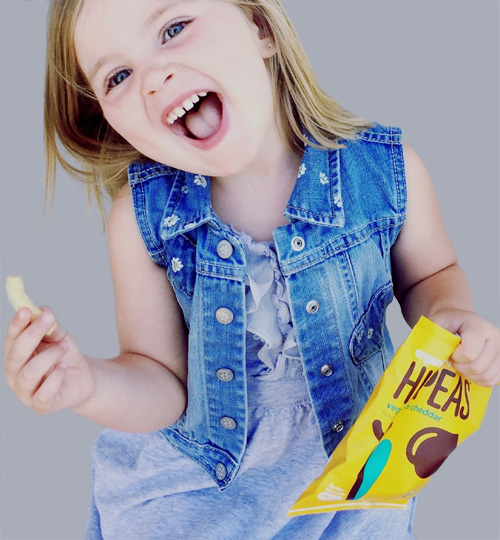 Child eating snacks